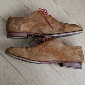 Ted Baker London Oxford Dress Shoes 12 Men's Suede